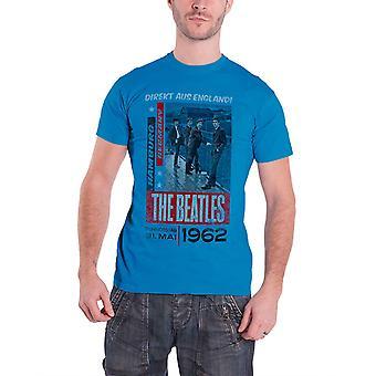 The Beatles T Shirt Direkt Aus England vintage poster new Official Mens Blue