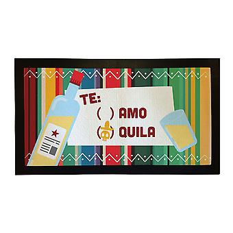 Painettu Bar Runner teamo Tequila kumi Baari matto Mens lahja idea