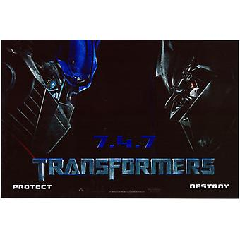 Transformers (Self Adhesive Decal) Original Cinema Poster