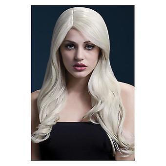 Feber Nicole Wig, Blonde, myk bølge med Side skiltes, 66cm/26 i Fancy kjole tilbehør