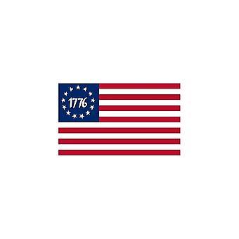 Naklejka Naklejka Samochód Moto Vinyl Flag 1776 USA Americain