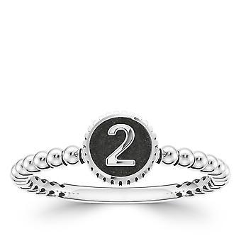 BIXLER Number '2' Fashion Ring In Sterling Silver