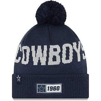 Neue Ära ONF19 kaltes Wetter Dallas Cowboys Bobble Beanie Hut blau 10