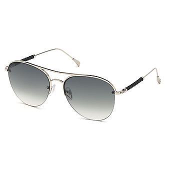 Tods TO0233 16B Shinu Palladium/Smoke Gradient Sunglasses