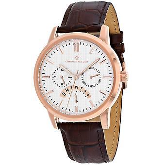 Christian Van Sant Men-apos;s Alden Silver Dial Watch - CV0324