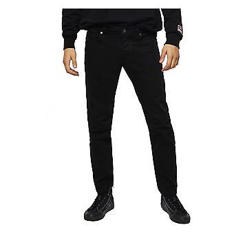 Diesel Black Mens Tapered Jeans 0688h