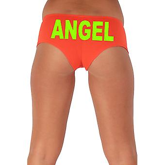 Women's Funny Booty Shorts Angel Block Green Bold Style Type