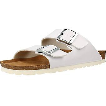 Gelbe Sandalen Pekin Farbe Weiß