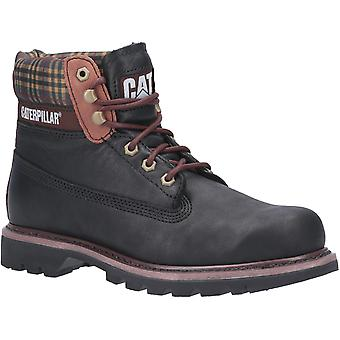 CAT Lifestyle Mens Colorado Plaid Lace Up Boot Zwart