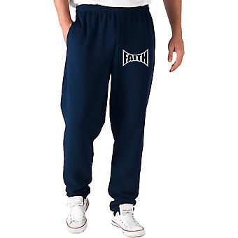 Pantaloni tuta blu navy fun1384 faith tapped out