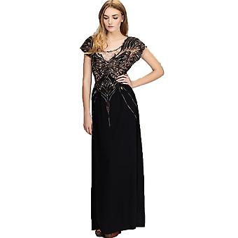 Sugarhill Boutique Butterfly Maxi Dress Black XS / UK 8