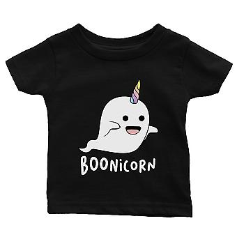 Boonicorn Cute Halloween Costume Funny Ghost Unicorn Baby Gift Tee Black