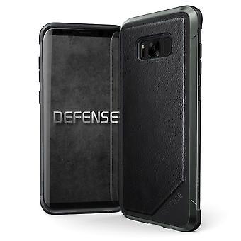 x-doria Defense Lux Leather Case Hard Cover Black, Samsung Galaxy S8+ S8 Plus