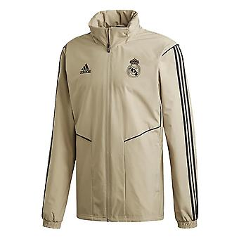 2019-2020 Real Madrid Adidas Allweather Jacket (Gold)