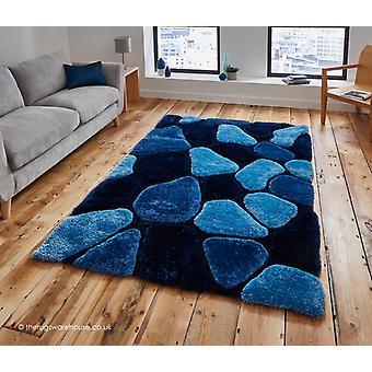 Slingeren blauw tapijt