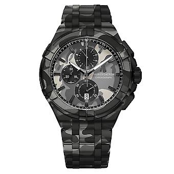 Maurice LaCroix Limited Edition Aikon Camo Dial Stainless Steel Bracelet Chronograph Men's Watch AI1018-PVB02-336-1