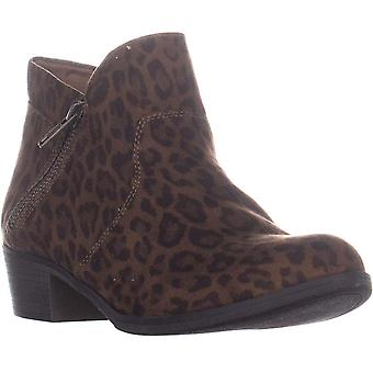 American Rag AR35 Abby Side Zip Short Ankle Boots, Leopard Micro