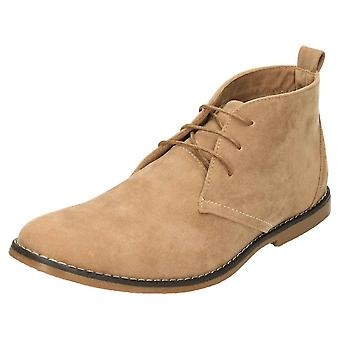 JWF Lace Up Desert Ankle Boots Faux Suede