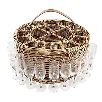 Wicker lys dampet Garden Party kurv