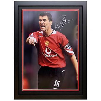 Manchester United Keane Signed Framed Print