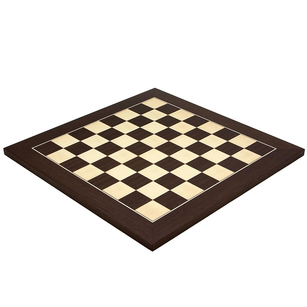 15.75 Inch Wenge and Maple Deluxe Chess Board