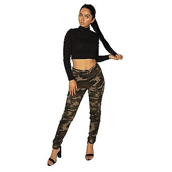 Dark Camouflage Skinny Jeans