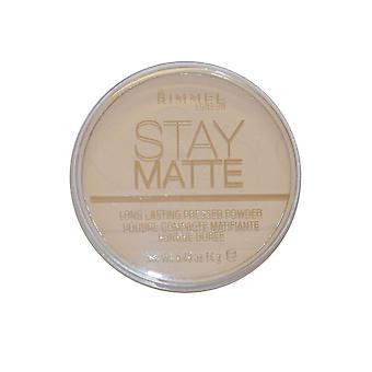 Rimmel London estancia polvo mate ligero matificante 14g transparente (001)