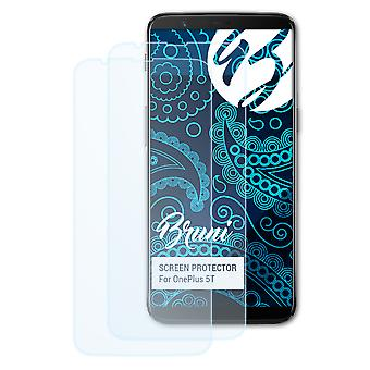 Bruni 2x Screen Protector compatible with OnePlus 5T Protective Film