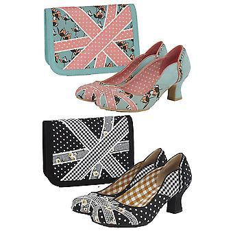 روبي شو المرأة & s بولا منتصف كعب المحكمة الأحذية ومطابقة حقيبة وندسور
