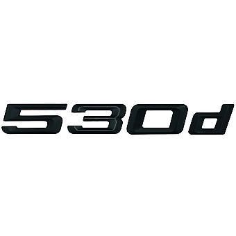 Matt Black BMW 530d Car Model Rear Boot Number Letter Sticker Decal Badge Emblem For 5 Series E93 E60 E61 F10 F11 F07 F18 G30 G31 G38