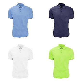 Glenmuir Mens Plain Mercerised Short Sleeve Polo Shirt