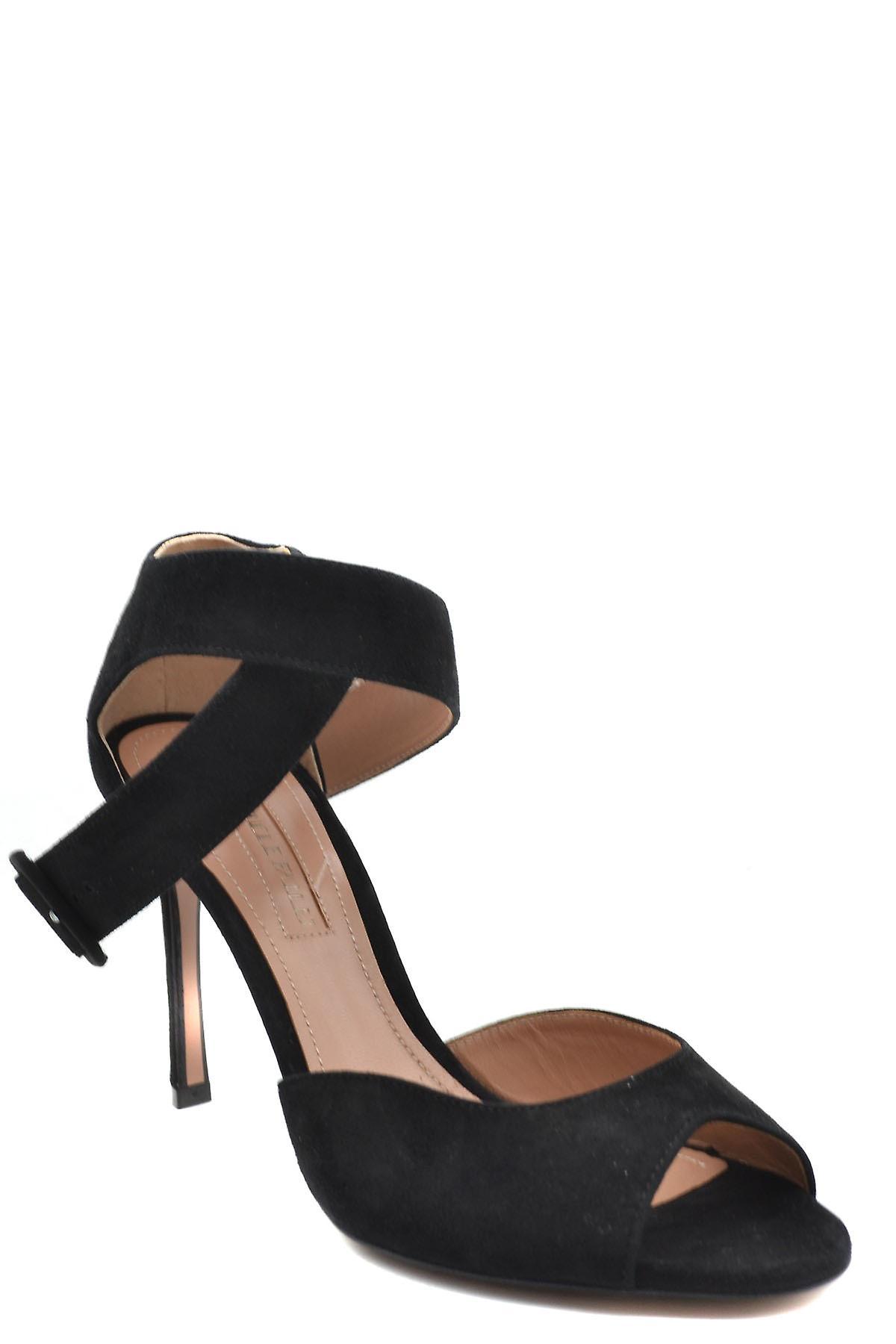 Samuele Failli Ezbc444001 Women's Black Suede Sandals i5Kxlc