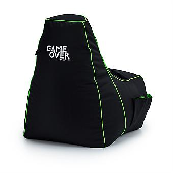 Game Over 8-Bit Kinderen Kinderen Mini Video Gaming Bean Bag Stoel | Indoor Living Play Room | Zijzakken voor controllers | Headsethouder | Ergonomisch ontwerp voor de toegewijde jonge gamer (Fel Magic)