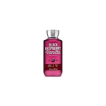 (2 Pack) Bad & Body Works Sort Hindbær Vanilla Shower Gel 10 fl oz / 295 ml