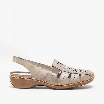 ريكر 41390-62 السيدات إسفين Slingback أحذية توب