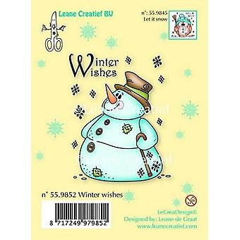 LeCrea Clear Stamp - Snowman Winter wishes