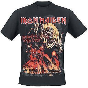 IJzeren Maiden nummer van het beest grafische T-shirt