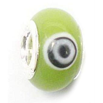 TOC BEADZ Lime Retro 8mm lasihelmi dia-on
