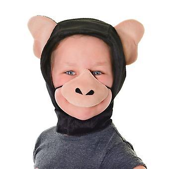 Schimpansen-Verkleidung (Haube + Nase) ***