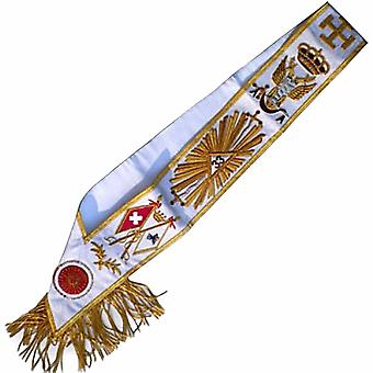 Masonic rose croix sash - aasr - 33rd degree - all countries flags