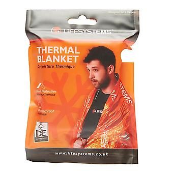 New Life Systems Thermal Blanket Outdoors Camping Black