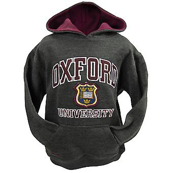 Ou129k kids licensed unisex oxford university™ hooded sweatshirt charcoal