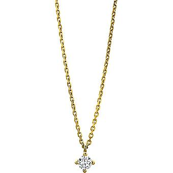 Diamond Collier Collier - 14K 585/- Yellow Gold - 0.2 ct. - 4A309G4-1