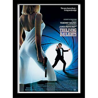 James Bond 007 Living Daylights Yksi arkki kehystetty levy 30 * 40cm