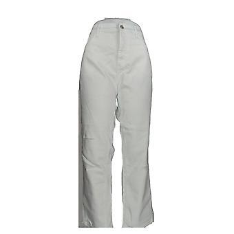 Denim & Co. Damen's Jeans Classic Denim Distressed Skinny White A304475 #0