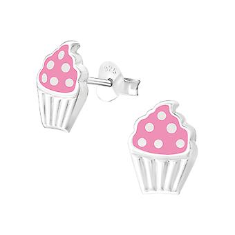Cupcake - 925 Sterling Silver Colourful Ear Studs - W37572x
