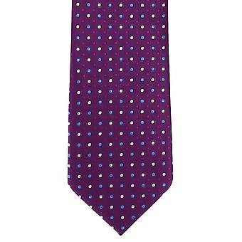 Michelsons of London Tonal Colour Spot Polyester Tie - Purple