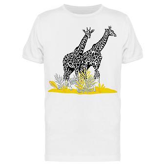 Skizze Giraffe In Pflanzen Tee Men's -Bild von Shutterstock