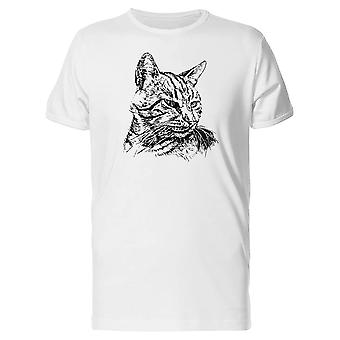 Cat With A Big Mustache Tee Men's -Image by Shutterstock
