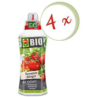 Sparset: 4 x COMPO BIO tomato fertilizer, 1 litre